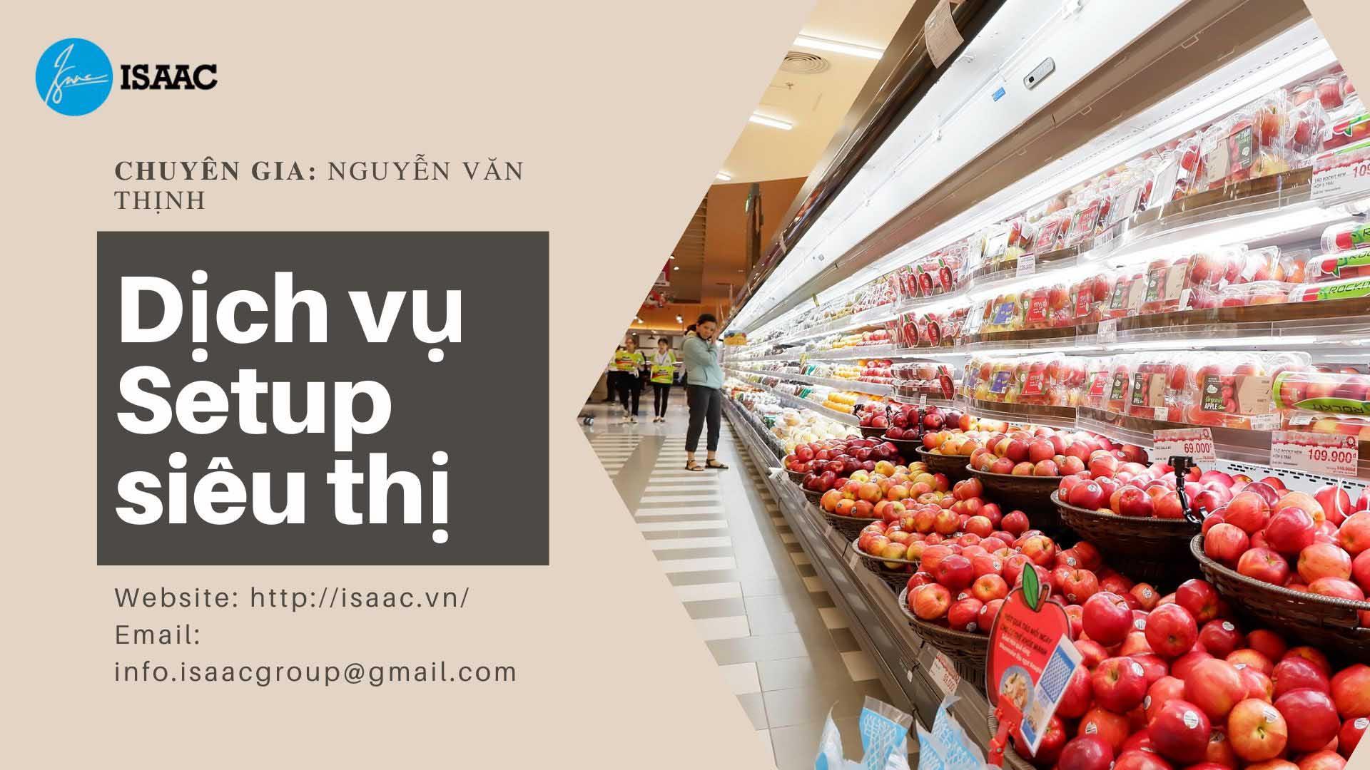 Dịch vụ setup siêu thị mini ISAAC