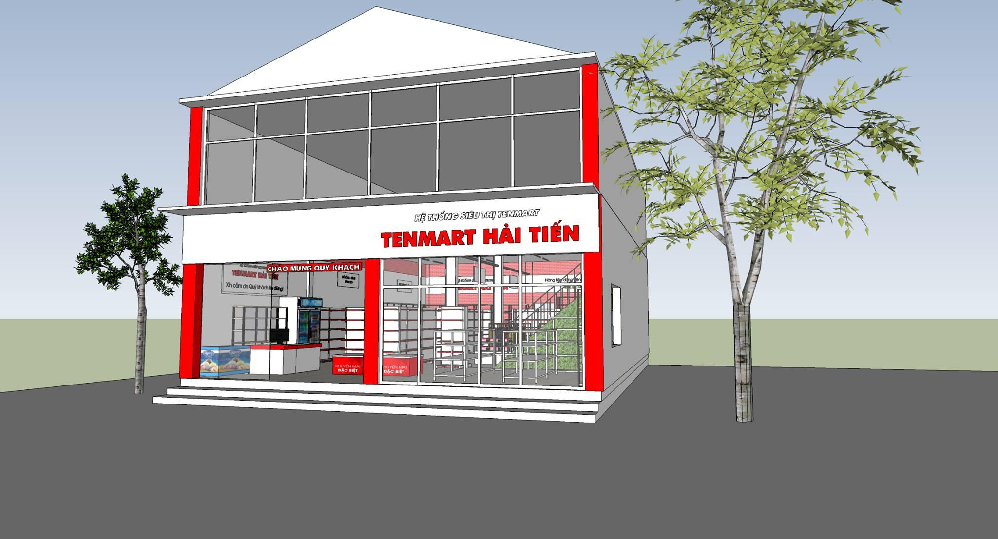 Thiết kế siêu thị mini Hải Tiến