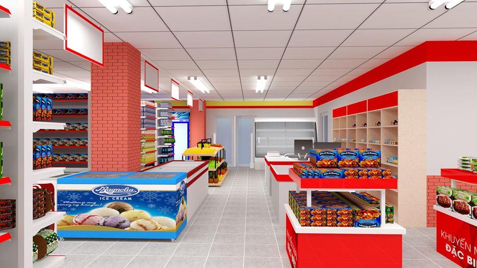 Thiết kế siêu thị mini KDC mart