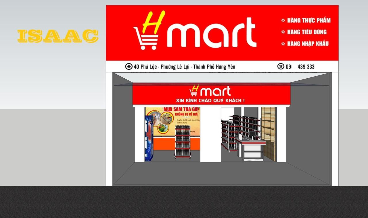 Thiết kế siêu thị mini tại TP Hưng Yên