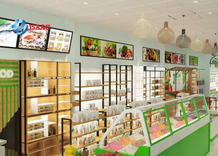 Mẫu thiết kế siêu thị mini