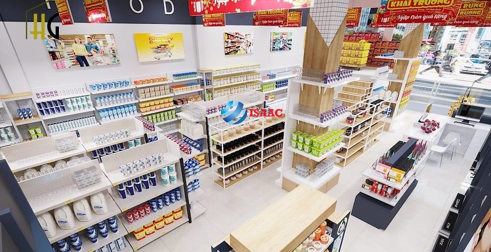 Mẫu thiết kế siêu thị mini đẹp